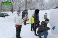 Конкурс снежных фигур в ЗООПАРКЕ